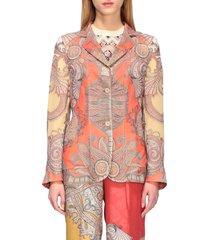 etro suit etro printed silk jacket