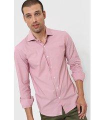 camisa rosa mancini c/italiano spandex