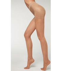 calzedonia 30 denier total shaper sheer tights woman nude size xl