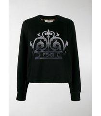 fendi embroidered logo sweatshirt
