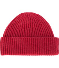 brunello cucinelli chunky knit beanie - red