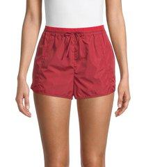 rebecca minkoff women's nora pull-on shorts - dark red - size m