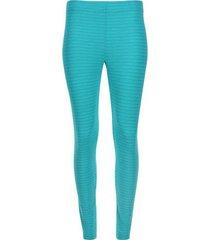 legging básico agua texturizado color azul, talla xs