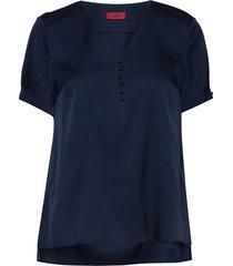 calela-1 blouses short-sleeved blå hugo