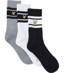 strumpor crew sock with retro stripe 3-pack
