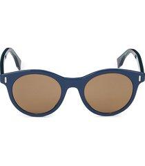 fendi women's 50mm round sunglasses - blue
