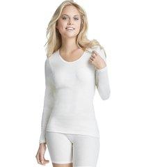 dames onderblouse wol lange mouw-38-wol wit