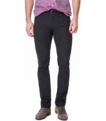 men's big & tall rodd & gunn whareflat straight leg jeans, size 38l - black