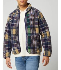 ymc men's beach jacket - madras check - xl