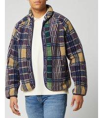 ymc men's beach jacket - madras check - l