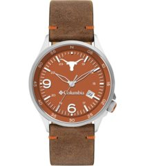 columbia men's canyon ridge texas saddle leather watch 45mm