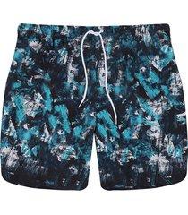 pantaloneta azul-blanco colore