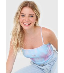 regata cropped hang loose tie dye azul/rosa