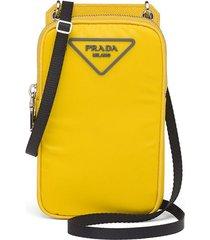 prada padded nylon smartphone case - yellow