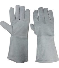 alta temperatura del soldador guantes de franela para ganado single-la