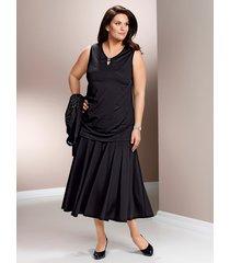 vådsydd kjol m. collection svart