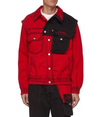 x levi's convertible contrast panel cotton twill jacket