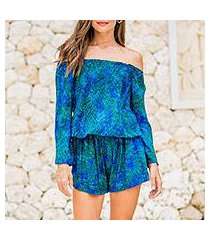 rayon long-sleeved romper, 'magnetic' (indonesia)