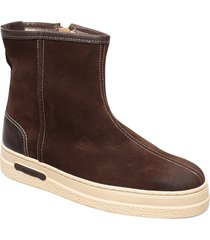 maria mid zip boot shoes boots ankle boots ankle boot - flat brun gant