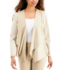 jm collection moleskin open-front jacket, created for macy's