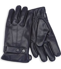 cashmere-lined touchscreen leather gloves