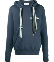 ambush multiple-drawstring hoodie - blue