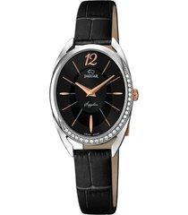reloj cosmopolitan negro jaguar