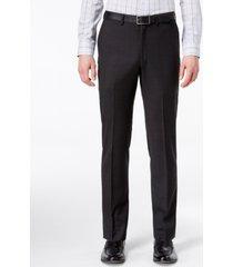 dkny men's modern-fit stretch textured suit pants