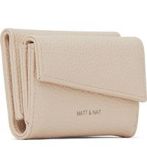 matt & nat tani small vegan wallet purity, opal