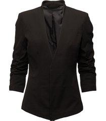 viher new 3/4 blazer/su-noos blazer svart vila