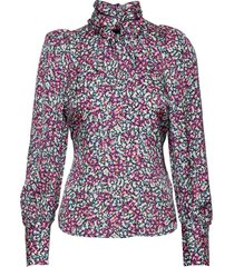penny blouse blus långärmad multi/mönstrad by malina