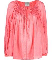 silk voile bohemian shirt