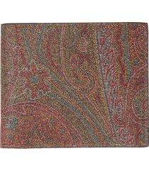 etro book paisley wallet