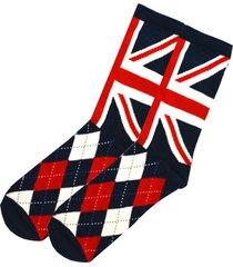 british union jack souvenir socks 75% cotton rich for men christmas gift uk 7-11