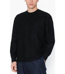 topman black twill sweatshirt tröjor black