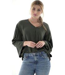 blusa manga larga casual - mujer