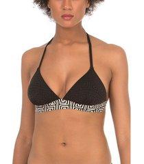 bikini selmark laberinto mare zwart driehoekig badpak topje