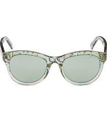 emilio pucci women's 52mm square sunglasses - grey