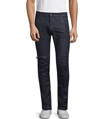 zip knee skinny pants