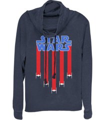 fifth sun star wars fighter jets star bangled banner cowl neck sweater