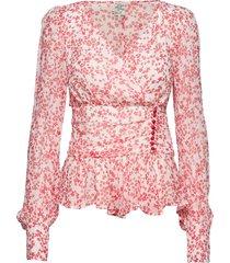 matinez blouse lange mouwen roze baum und pferdgarten