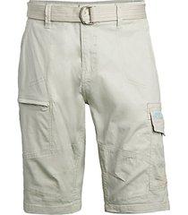 belted cargo bermuda shorts