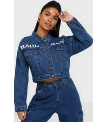 karl kani kk retro denim jacket jeansjackor