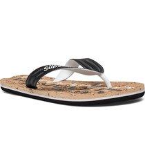 cork flip flop shoes summer shoes flip flops svart superdry