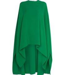 valentino asymmetric draped kaftan top - green