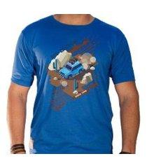 camiseta eco canyon in the mud masculina
