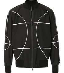 blackbarrett court line bomber jacket