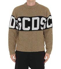 gcds logo lurex sweater
