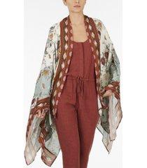 adyson parker plus size mix print kimono