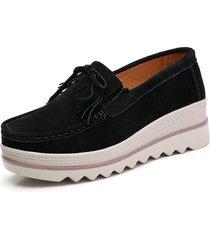 plataforma zapatos planos de las mujeres zapatillas de deporte zapatos